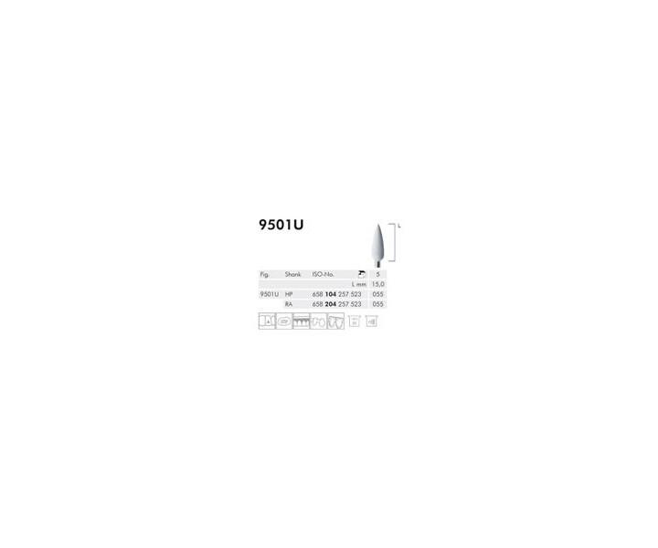 H+M Elastische Polierer Fig. 9501 U - 9515 U, weiß