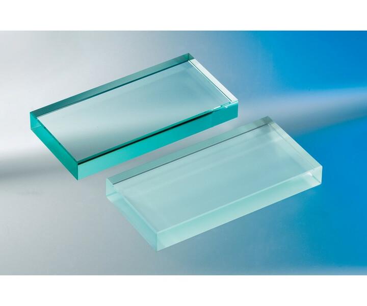 Glasblocks und Glasplatten